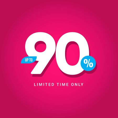 Discount up to 90% Limited Time Only Vector Template Design Illustration