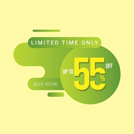 Discount up to 55% off Limited Time Only Vector Template Design Illustration 일러스트