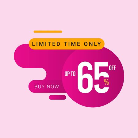 Discount up to 65% off Limited Time Only Vector Template Design Illustration