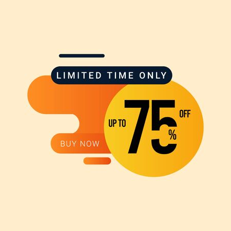 Discount up to 75% off Limited Time Only Vector Template Design Illustration 일러스트