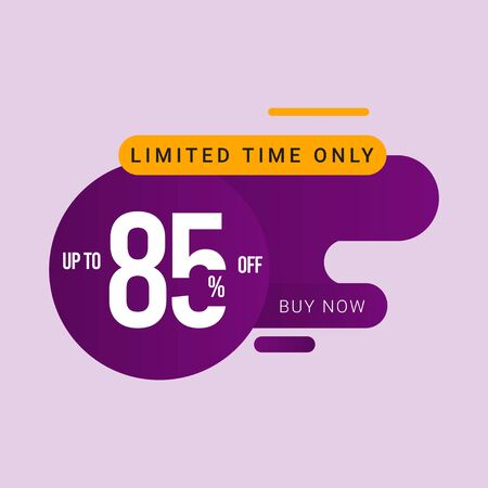 Discount up to 85% off Limited Time Only Vector Template Design Illustration