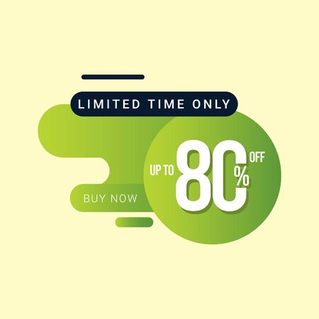 Discount up to 80% off Limited Time Only Vector Template Design Illustration