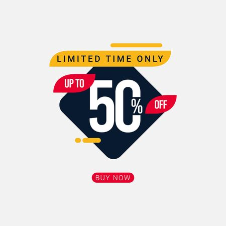 Discount up to 50% off Limited Time Only Vector Template Design Illustration