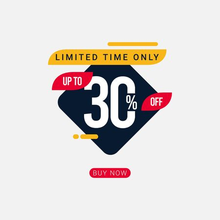 Discount up to 30% off Limited Time Only Vector Template Design Illustration