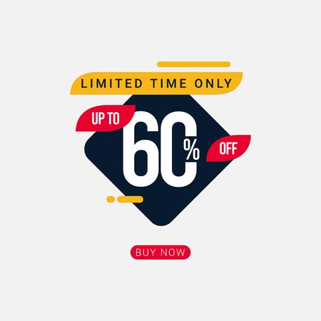 Discount up to 60% off Limited Time Only Vector Template Design Illustration