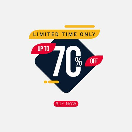 Discount up to 70% off Limited Time Only Vector Template Design Illustration