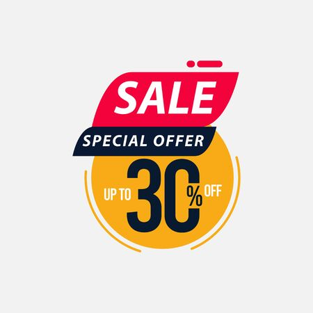 Sale Special Offer up to 30% off Limited Time Only Vector Template Design Illustration