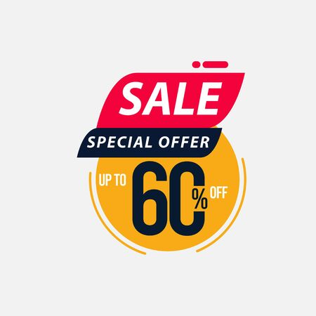 Sale Special Offer up to 60% off Limited Time Only Vector Template Design Illustration