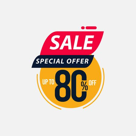 Sale Special Offer up to 80% off Limited Time Only Vector Template Design Illustration