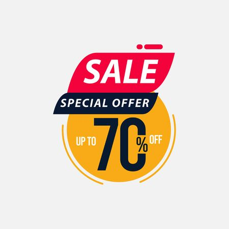 Sale Special Offer up to 70% off Limited Time Only Vector Template Design Illustration 일러스트