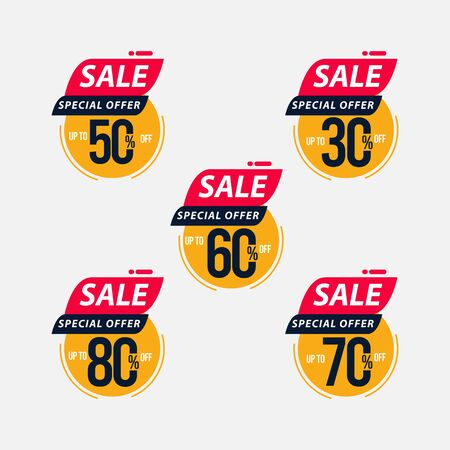 Sale Special Offer up to 30% 50% 60% 70% 80% off Limited Time Only Vector Template Design Illustration 일러스트