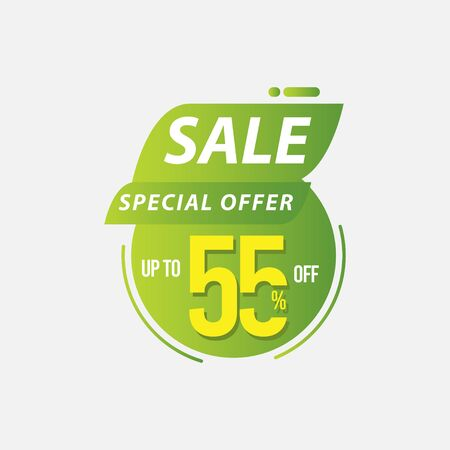 Sale Special Offer up to 55% off Limited Time Only Vector Template Design Illustration 일러스트