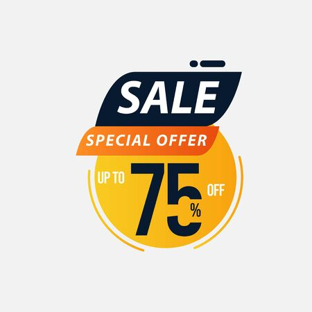 Sale Special Offer up to 75% off Limited Time Only Vector Template Design Illustration
