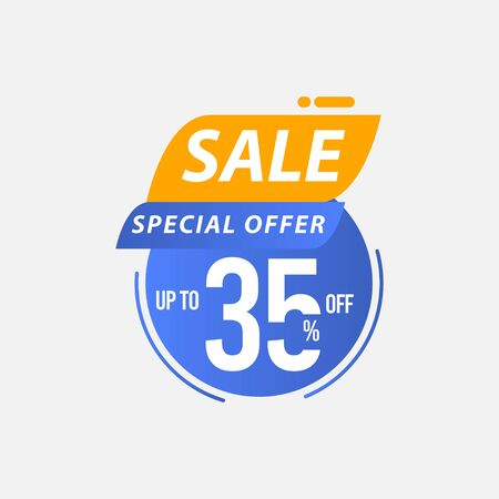 Sale Special Offer up to 35% off Limited Time Only Vector Template Design Illustration 일러스트