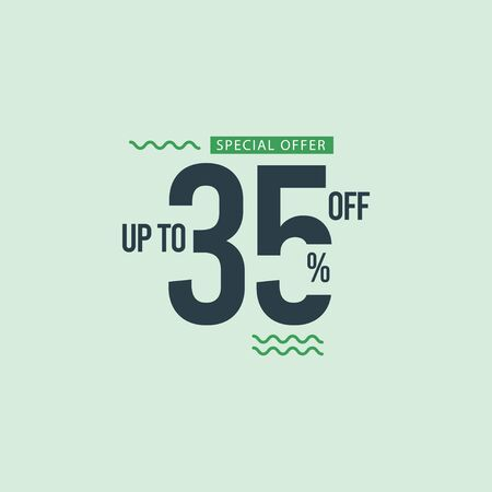 Discount Special Offer up to 35% off Vector Template Design Illustration 일러스트