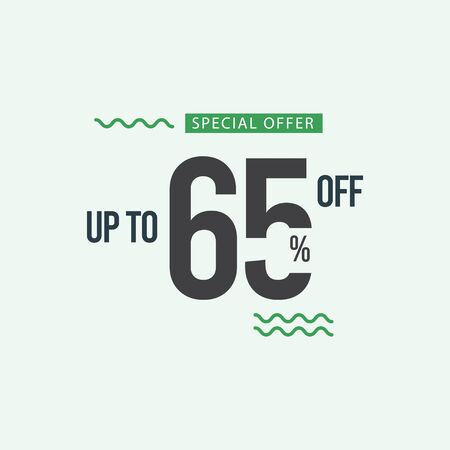 Discount Special Offer up to 65% off Vector Template Design Illustration