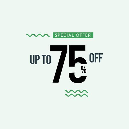 Discount Special Offer up to 75% off Vector Template Design Illustration