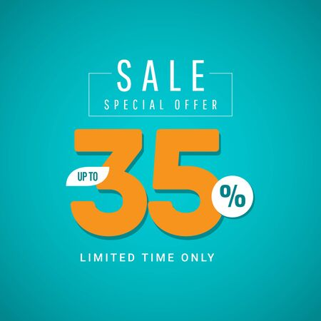 Sale Special Offer up to 35% Limited Time Only Vector Template Design Illustration