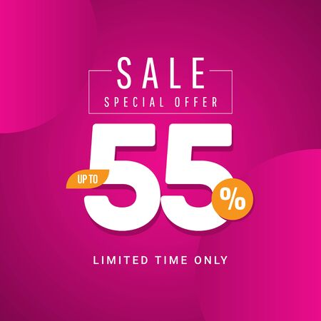 Sale Special Offer up to 55% Limited Time Only Vector Template Design Illustration 일러스트