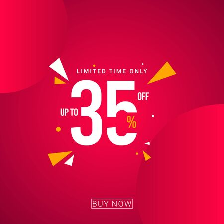 Discount up to 35% Limited Time Only Vector Template Design Illustration