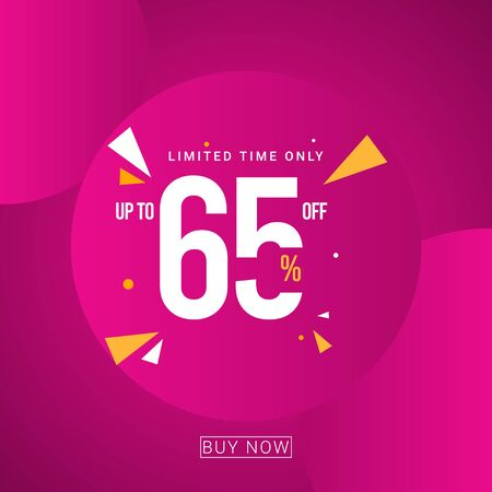 Discount up to 65% Limited Time Only Vector Template Design Illustration 일러스트