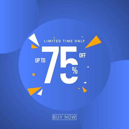 Discount up to 75% Limited Time Only Vector Template Design Illustration 일러스트