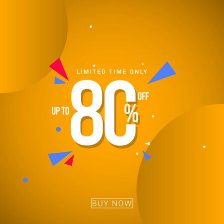 Discount up to 80% Limited Time Only Vector Template Design Illustration 일러스트