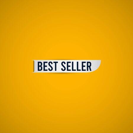 Best Seller Text Label Vector Template Design Illustration