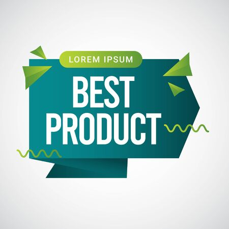 Best Product Text Label Vector Template Design Illustration