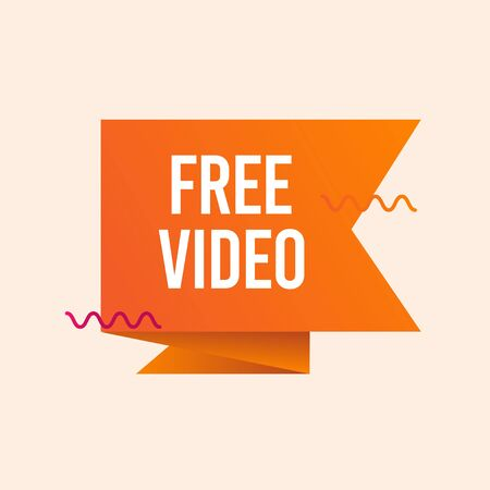 Free Video Text Label Vector Template Design Illustration 일러스트