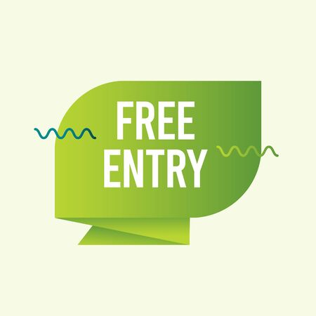 Free Entry Text Label Vector Template Design Illustration