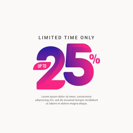 Discount up to 25% Limited Time Only Vector Template Design Illustration