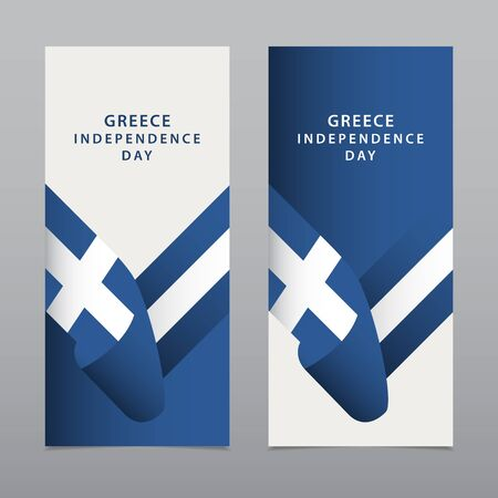 Happy Greece Independence Day Celebration Vector Template Design Illustration