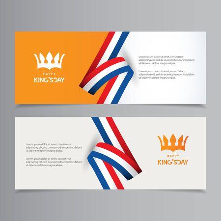 Happy King's Day Celebration Vector Template Design Illustration Ilustração