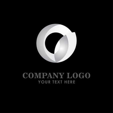 Company Logo Silver Vector Template Design Illustration Çizim
