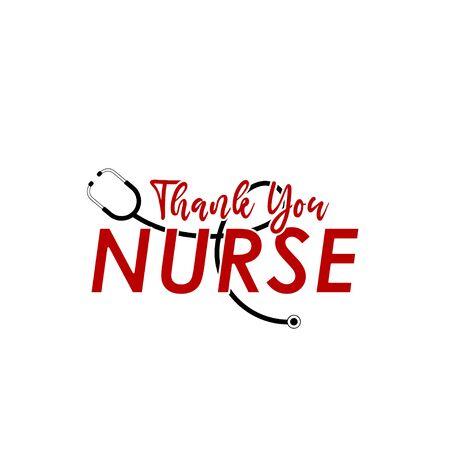 Thanks You Nurse Vector Template Design Illustration