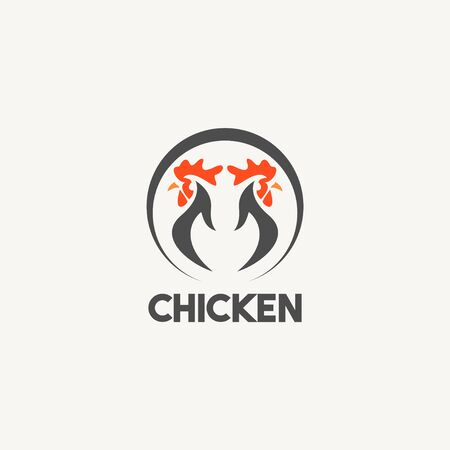 Chicken Logo Icon Vector Template Design Illustration