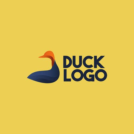Duck Logo Icon Vector Template Design Illustration Illustration