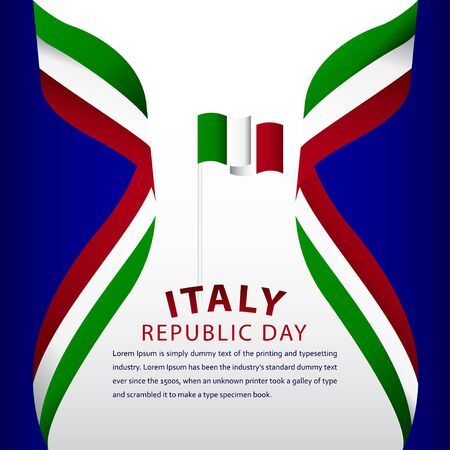 Happy Italy Republic Day Celebration Vector Template Design Illustration