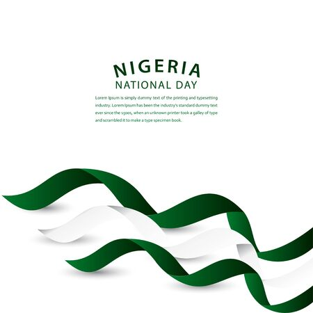 Happy Nigeria National Day Celebration Vector Template Design Illustration