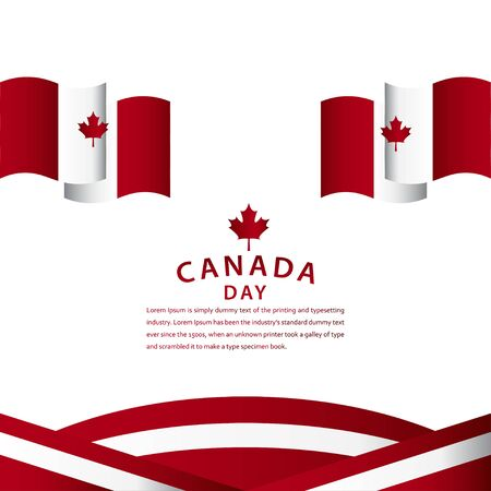 Happy Canada Day Celebration Vector Template Design Illustration Illustration
