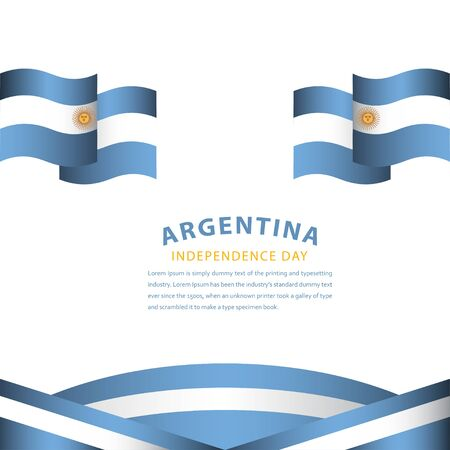 Happy Argentina Independence Day Celebration Vector Template Design Illustration