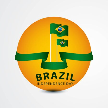 Happy Brazil Independence Day Celebration Vector Template Design Illustration