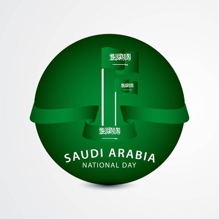 Happy Saudi Arabia National Day Celebration Vector Template Design Illustration