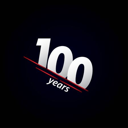 100 Years Anniversary Celebration Black and White Vector Template Design Illustration