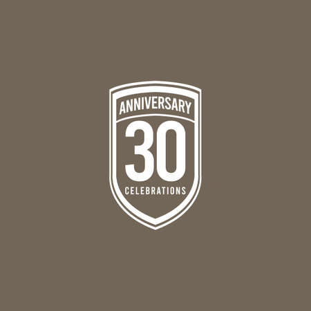 30 Years Anniversary Celebration Retro Classic Vector Template Design Illustration