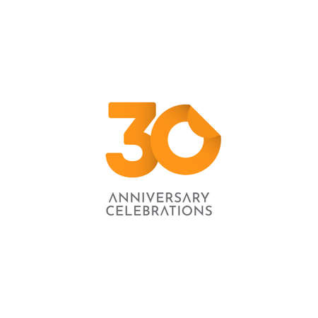 30 Years Anniversary Celebration Vector Logo Icon Template Design Illustration