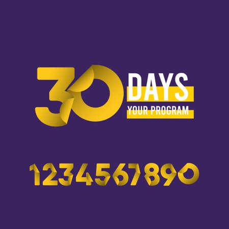30 Days Your Program Vector Template Design Illustration