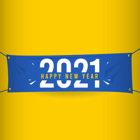 Happy New Year 2021 Vector Template Design Illustration