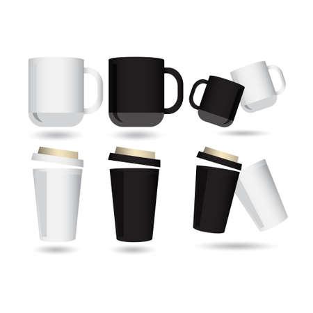 Mockup Glass Compilation Design Vector Template Illustration Vettoriali